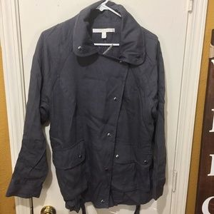 Nordstrom Collection light buttoned utlity jacket